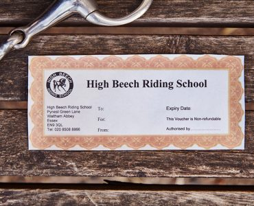 HIGH BEECH RIDING SCHOOL GIFT VOUCHERS